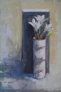 Lilies & China Vase