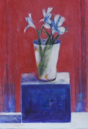Lilies & White Vase