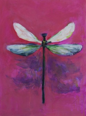 Dragonfly on Pink