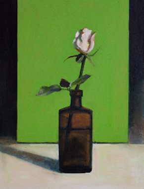 White Rose on Green