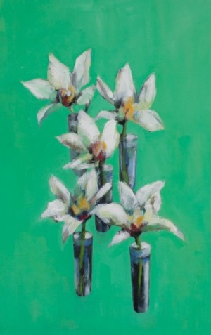 Orchids on Green copy