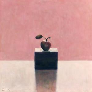Apple & Box on Pink
