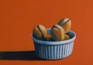 Apricots on Tangerine