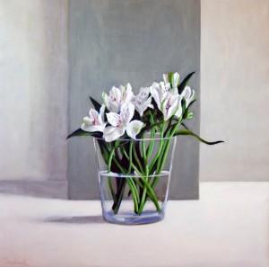 Lilies, Grey & White