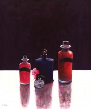 Rose & Pharmacy Bottles