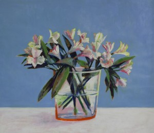 Lilies on Blue - Summer
